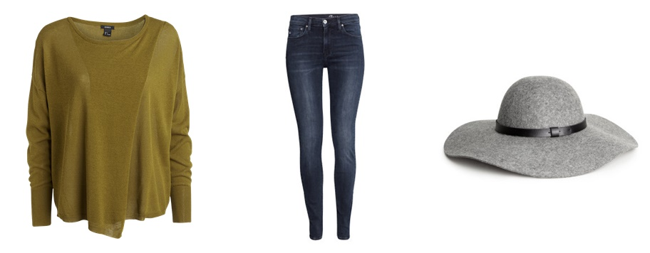 h&m hat, shaping jeans and lindex shirt