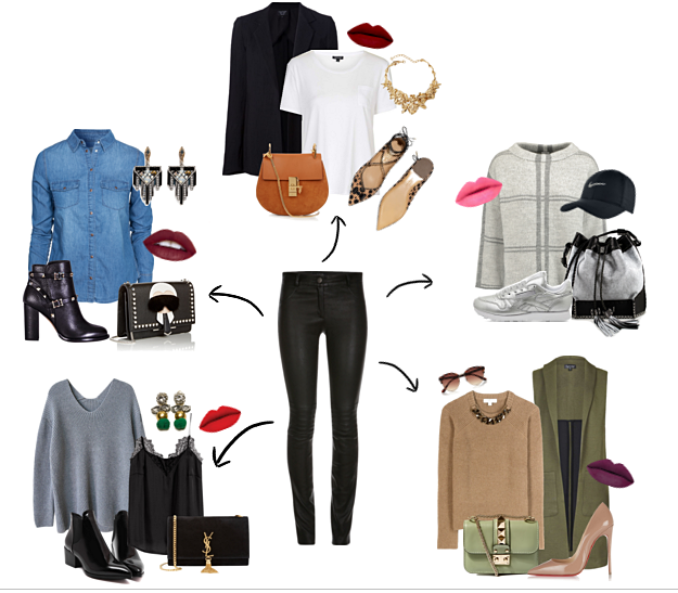 how to style leather pants outfit ideas