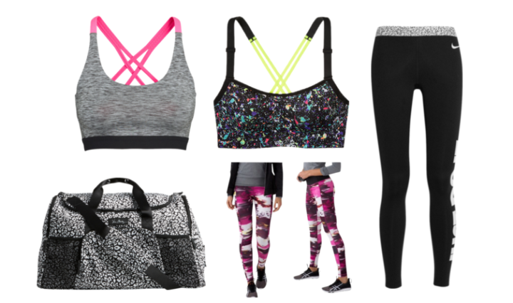Workout clothes, sports bra, leggings, gym clothes