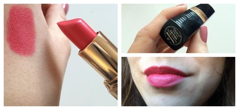 Bobbi Brown Watermelon Lip Color Lipstick Matte Pink Coral Square Mie of Style
