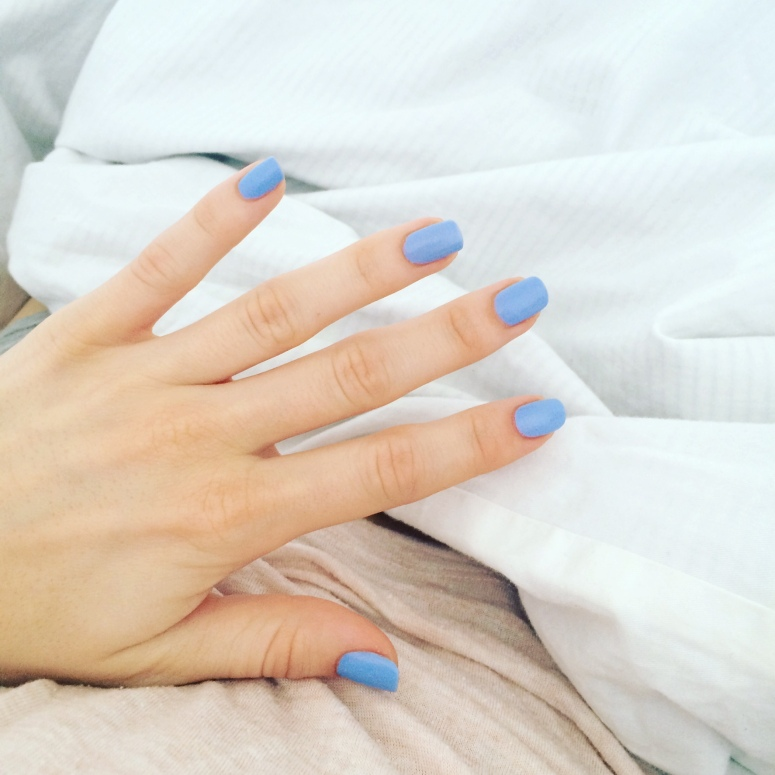 essie bikini so teenly blue nail polish swatch and review