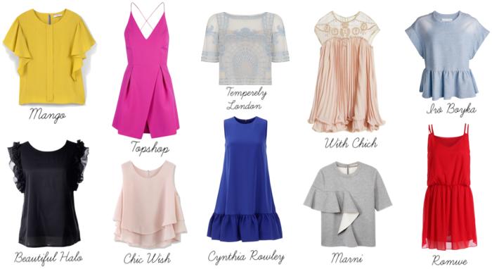romantic fashion spring trend ruffles pleats drapes