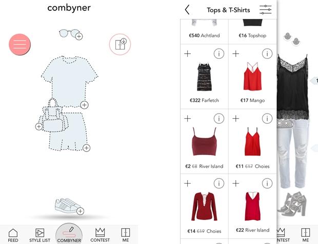 combyne application online fashion closet