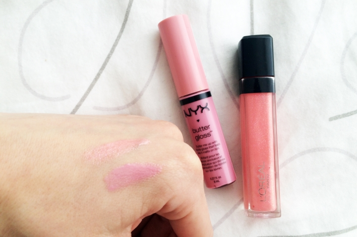 beauty haul square mileo of style nyx and loreal lipgloss