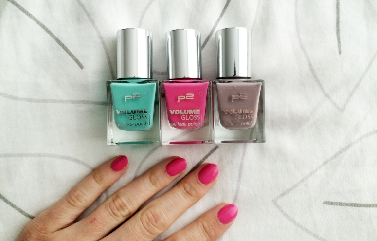 huge beauty haul square mile of style nailpolish p2 gel looking polish pink green and brown