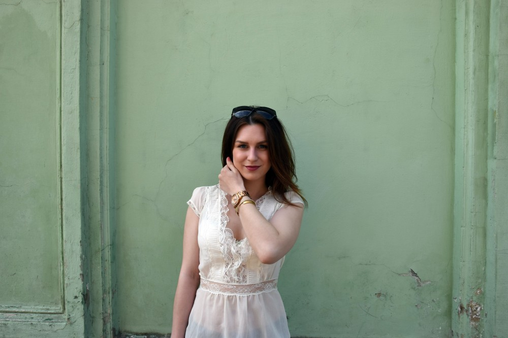 Look of the day Lookbook Lace and Ice Cream Square Mile of Style Fashion blogger Outfit