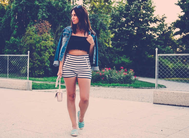 andrea simunic croatian blogger late summer street style stripes and denim square mile of style