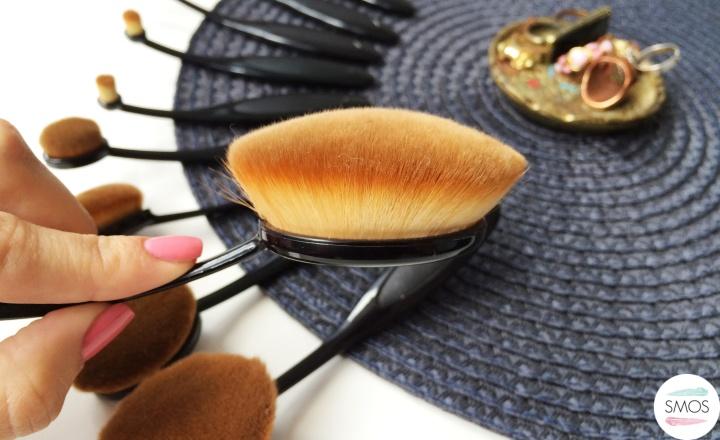 my make up brush set oval brushes