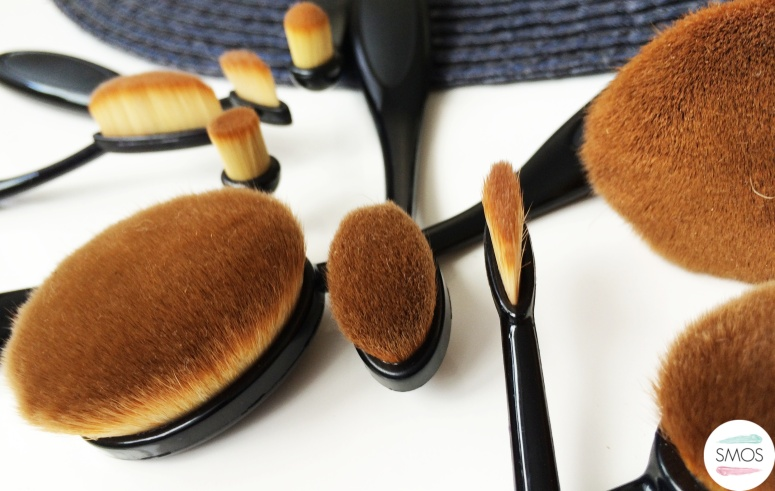 my make up brush set oval brushes