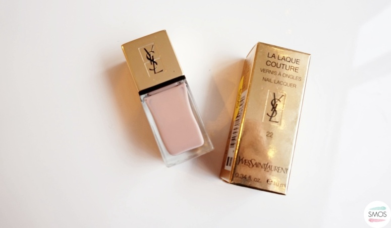 BEAUTY haul new in my cosmetics bag yves saint laurent ysl la laque couture 22 beige leger