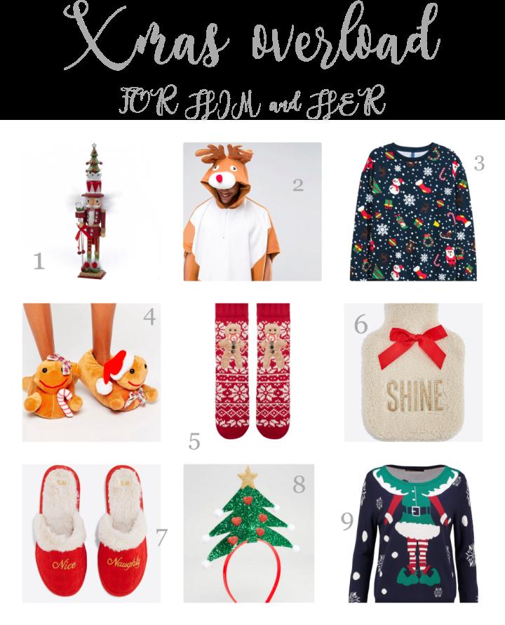 christmas inspired gifts reindeer nutcracker sweater socks slippers gift guide